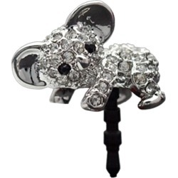 Costbuys  Brand New 1pcs Fashion Cell Phone Accessories Cute Lovely Diamante Koala Headphone Jack Dust Plug