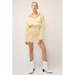 ADELYNN SMOCKED WAIST SHIRT DRESS found on Bargain Bro India from jae. co., ltd for $95.90