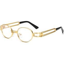 Costbuys  Vintage Designer Fashion Sunglasses Oval Frame UV Protection Ocean film sunglasses Retro punk sunglasses FML - plain