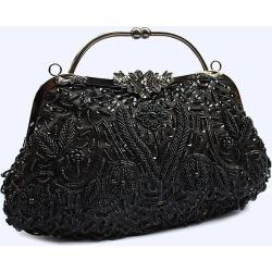 Costbuys  Women Bag Fashion Evening Bag Party Clutch Handbag Slap-up Shiny Bride Purse Wedding Woman Birthday Gift For Women - b