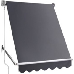 Retractable Fixed Pivot Arm Awning - Grey found on Bargain Bro Philippines from Simply Wholesale for $154.65