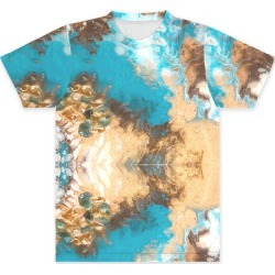 Unisex Tee - Front Print - Down Brown in Blue/Brown/Green by VIDA Original Artist found on Bargain Bro Philippines from SHOPVIDA for $45.00
