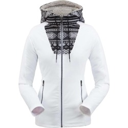Spyder Women's Soiree Hybrid Fleece Hoodie Size Small in White