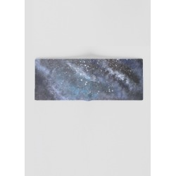 Leather Slimfold Wallet - Galaxy in Blue by VIDA Original Artist found on Bargain Bro India from SHOPVIDA for $65.00