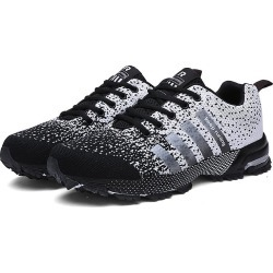 Costbuys  Men Running Shoes Breathable Outdoor Sports Shoes Lightweight Sneakers for Women Comfortable Athletic Training Footwea