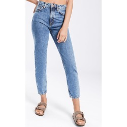 Nudie Jeans - Breezy Britt Tapered Jeans in Friendly Blue found on MODAPINS from glue store for USD $93.31