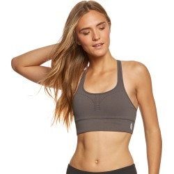 Free People Women's Movement Method Seamless Yoga Sports Bra - Grey X-Small/Small Spandex