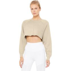 Alo Yoga Washed Double Take Pullover - Sandstone Wash - Size M - Modal / Cotton / Spandex
