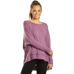 Free People Women's Movement First Choice Long Sleeve Pullover - Purple Small Cotton Shirt