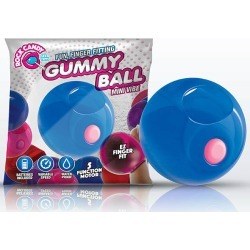 Rock Candy Gummy Ball - Blueberry Blue Disposable Finger Stimulator