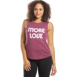 Spiritual Gangster Women's More Love Muscle Tank Top - Wildberry Medium Cotton