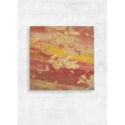 Wood Wall Art - 12x12 - Gold And Fire Wall in Brown by VIDA Original Artist