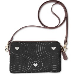 Statement Clutch - Black White Hearts I in White by Haris Kavalla Original Artist found on Bargain Bro India from SHOPVIDA for $40.00