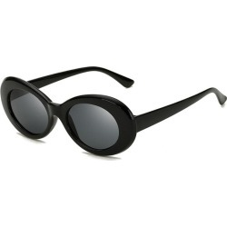Costbuys  New Oval Sunglasses Women Men Designer Summer Retro Sunglass Female Oculos de sol UV400 Round Sun glasses - C1