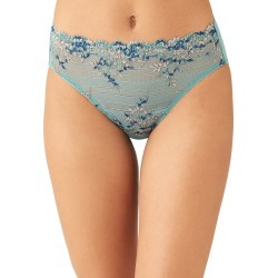 Wacoal Embrace Lace Hi Cut Brief Bristol Blue 841191 found on Bargain Bro from Freshpair for USD $14.36