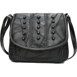 Costbuys  Luxury Fashion Rivet Women's Bags Purse Handbags Genuine Leather Ladies Messenger Bag For Girls Crossbody Bag Females