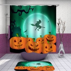 Moon Light Halloween Witch Shower Curtain found on Bargain Bro India from Simply Wholesale for $62.17