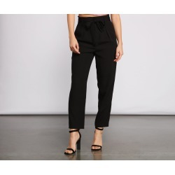 Tapered Tease High Waist Dress Pants