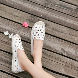 4dc4a586452 Costbuys Women s Flats Shoe Embroidery Fisherman Female Shoe Spring Summer  Women Shoes Slip On - White