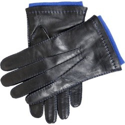 Dents Men's Handsewn Contrast Colour Cashmere Lined Leather Gloves In Black (Royal) Size 7.5 found on Bargain Bro UK from Dents