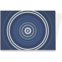 Greeting Cards Set - Darkest Indigo Mandala in Blue/Purple by VIDA Original Artist found on MODAPINS from SHOPVIDA for USD $45.00