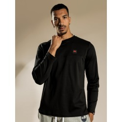 Ellesse - Tonti Long Sleeve T-Shirt in Black found on MODAPINS from glue store for USD $69.39