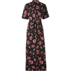 Adam Lippes Women's Floral Tie-Waist Dress in Red/Black size 10 US found on MODAPINS from kirna zabete for USD $1290.00