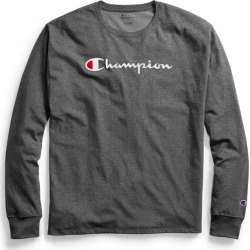 Champion Mens Classic Jersey Long-Sleeve Tee Script Logo GT78H Y07718 found on Bargain Bro Philippines from Freshpair for $20.00