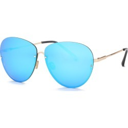 Costbuys  Free freight ladies' sunglasses, punk colors, men's fashion designer glasses DF697 Pilot - C5