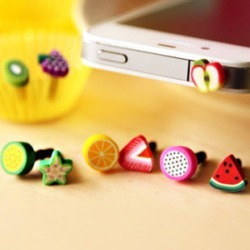 Costbuys  1PC Simulated Lovely Fruit Phone Anti Dust Plug Cell Phone Accessories For Iphone For Xiaomi All Normal 3.5mm Earphone