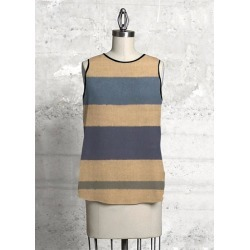 Sleeveless Top - Burlap Stripes in Brown/Green by VIDA Original Artist found on Bargain Bro Philippines from SHOPVIDA for $90.00