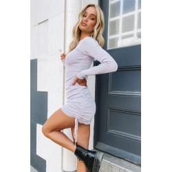 Lioness Military Minds Long Sleeve Dress Pastel Purple found on MODAPINS from beginning boutique for USD $76.36