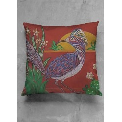 Accent Pillow - Luster Square - Walter Runner in Brown/Green by VIDA Original Artist found on Bargain Bro Philippines from SHOPVIDA for $30.00