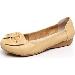 Costbuys  Spring\Autumn Genuine Leather Shoes Woman Flats Work Casual Ballet Ladies Shoes - apricot / 5