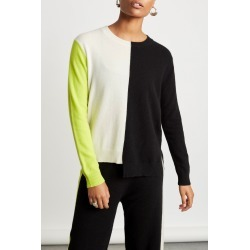 Chinti And Parker Soft Sweater in Cream/Black/Lime Bandier found on MODAPINS from bandier for USD $289.00