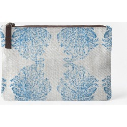 Carry-All Pouch - Blue Paisley Juul Pouch in Blue by VIDA Original Artist