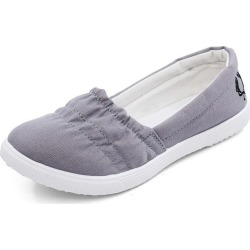 Costbuys  Women Loafers Soft Slip On Canvas Flats Shoes Woman Solid Casual Breathable Shoe For Mother Platform Shoes - grey / 5 found on Bargain Bro India from cost buys for $83.99