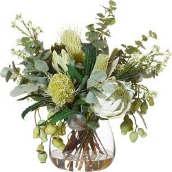 Native Mix In Garden Vase Green