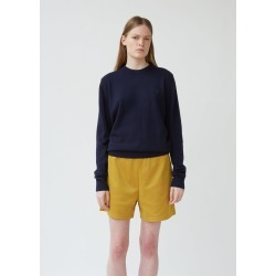 Acne Studios Nalon Face Sweater Navy Blue Size: Medium found on MODAPINS from la garconne for USD $300.00