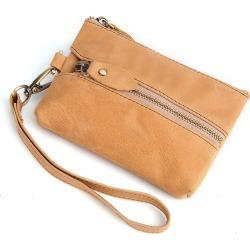 Costbuys  100% Genuine Leather Key Holder Car Key Wallets Men Keys Organizer Housekeeper Women Covers Zipper Key Case Bag Pouch