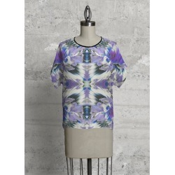 Modern Tee - Waves Of Blue in Blue/Purple by VIDA Original Artist found on Bargain Bro Philippines from SHOPVIDA for $65.00