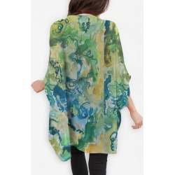 Cocoon Wrap - Greens And Blues in Blue/Green/Yellow by VIDA Original Artist