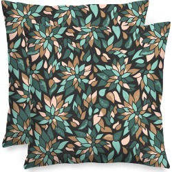 Square Pillow - Forest Leaves Enchantment by VIDA Original Artist
