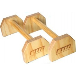 Wooden Parallette Bars Push Up and Dip Workouts