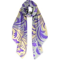 Modal Scarf - Folk Floral Pattern. Abst in Purple/Yellow by VIDA Original Artist found on Bargain Bro Philippines from SHOPVIDA for $50.00