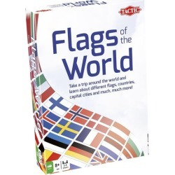 Tactic Games Flags of The World Family Card Game For 2-6 Players found on GamingScroll.com from Toynk Toys for $24.99