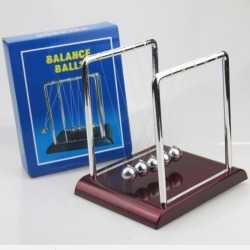Costbuys  Desk Toys Cradle Steel Balance Ball Physic School Educational Supplies Home Decoration Accessories - 1 / 90x75x95mm
