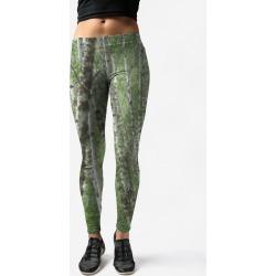 Leggings - Aspens in Green by VIDA Original Artist