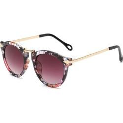 Costbuys  Fashion Retro Round Coating Sunglasses Women Designer Vintage Sun Glasses Woman Metal Arrow Sunglass Oculos De Sol - f