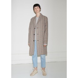 6397 Plaid Trench Coat Brown Plaid Size: Small found on MODAPINS from la garconne for USD $895.00